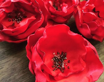 Red Poppy Brooch Buttonhole Remembrance