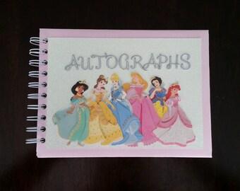 Disney Autograph Book, Disney Photo Book, Princess Autograph Book, Disney Keepsake Book, Personalized Autograph Book