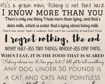 Ron Swanson Quotes Printable