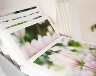 Premium Notecards, Truly beautiful Spring Tulips, Fine art prints, handmade artistic notecards set