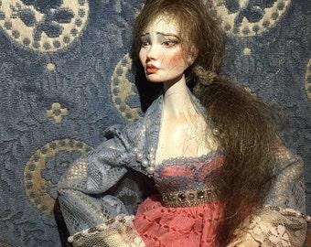 Porcelain art ball jointed doll Katerina