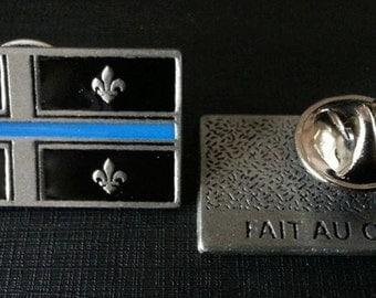 Blue line Qc. pin / Pin Blue line Qc.