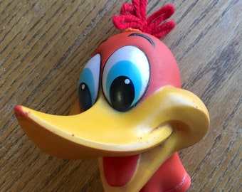 Vintage Rubber Woody Woodpecker Head for Puppet Toy or Doll 1950 Era