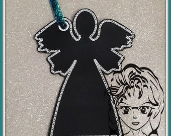 Angel Chalk Coloring Note Tag ~ In the hoop ~ Downloadable DiGiTaL Machine Embroidery Design by Carrie