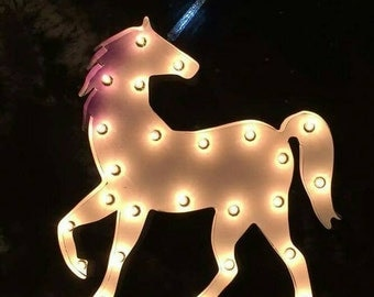 Unicorn Marquee light by JunkFX *Free Shipping