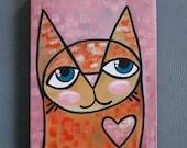 "8x10 Acrylic Cat Painting - ""Samson"""