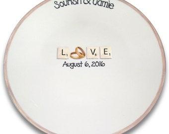 Scrabble LOVE Wedding Signature Platter