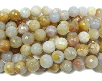 Australian Agate Faceted Gemstone Beads