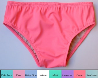 Mens Brief Swimsuit in Coral, Pink, Seafoam, Mint, Baby Blue, Turquoise, White,Lavender in S.M.L.XL