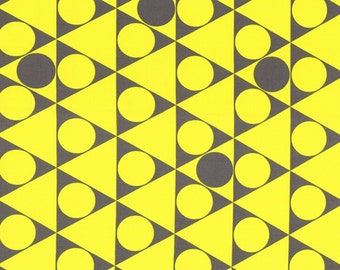 Lecien First of Infinity Yellow Grey Gumballs fabric - fat quarter