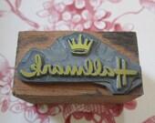 Vintage Letterpress Printing Block  Hallmark Card Company Logo
