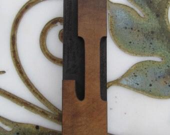 """Large 5"""" Letter L Antique Letterpress Wood Type Printers Block"""