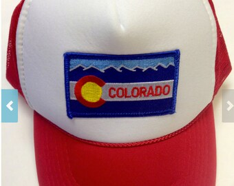 Custom Order for Deborah  7 Toddler/Kids Trucker Hat- with Colorado flag Patch