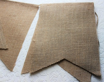 Burlap Banner Pennant String, Jute rope, House Decor, Home Decor, Country crafts, Party Decor, Burlap Decorations