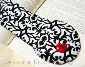 Snow White Book Weight - Red Apple on Black and White Page Holder - Fairy Tale - Brothers Grimm Stories
