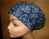 New  Navy Blue Bandana Euro Style Medical Surgical Scrub Hat Vet Nurse Chemo
