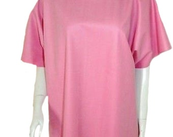 """Rubber Shirt / Top / Tee (Latex Silicone Mix) Pink. Size  Large (38""""+)"""