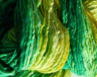 Lemon Lime-Handspun Wool Yarn