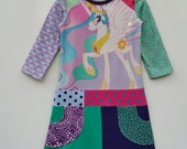 Size 6+ (48 inch height) Upcycled shirt girls dress My little pony