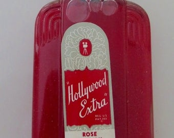 Vintage Hollywood Extra Rose Hair Oil ART DECO BOTTLE 1950's Unopened Full