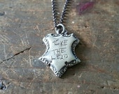 CLEARANCE Take the leap! Handmade Shield Pendant in Sterling Silver - One of a kind / Limited Edition