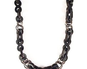 Recycled Record Infinity Chain Necklace
