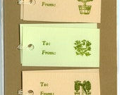 Letterpress Gift Tags, Parsley Gardens