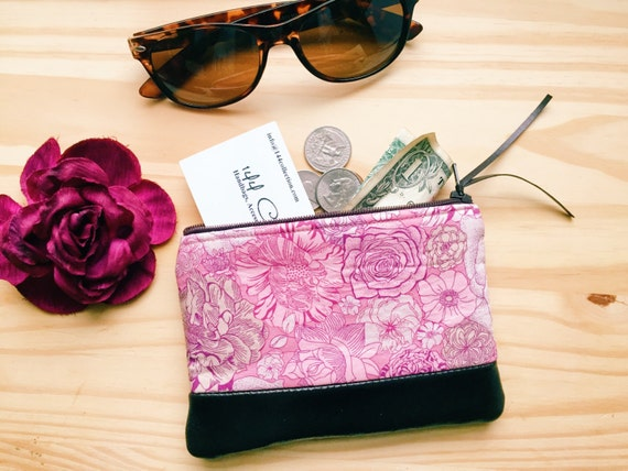 Leather Pouch, Coin Purse, Leather Zipper Pouch, Small Coin Purse, Change Purse, Women's Change Purse Wallet
