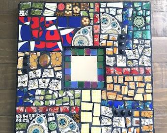 Boho Patchwork Mosaic Mirror