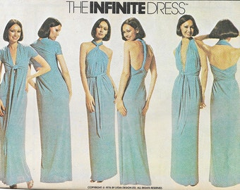 McCall's 5360 - Vintage 1970s INFINITE WRAP DRESS  - Sewing Pattern - One Size - Uncut