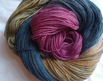 hand-dyed bfl  nylon sock yarn SURGE