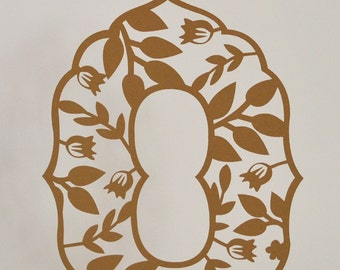 Laser Cut Table Numbers: Tree 1-20