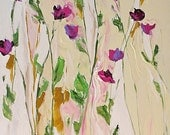 Giclee Print of Original Acrylic Abstract Floral Painting Made To Order Impressionist Flowers Fine Art Print Wall Decor by Linda Monfort