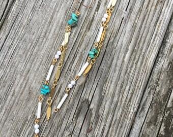 Turquoise Lust Vintage Dangle Earrings