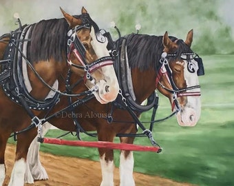 UPside Down painting today More Brass Tack Driving Harness Progress Draft Horse Updates Posted Original Oil Equine Art California Artist