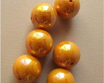 On Sale Vintage mustard yellow big beads