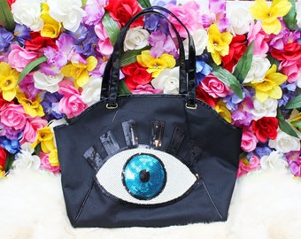 All-Seeing Sequin Eyeball Tote