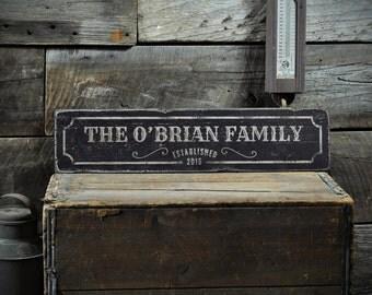 Last Name Sign, Custom Family Sign, Wedding Sign, Family Sign, Rustic Wedding Sign, Established Date Sign, Custom Wooden Sign ENS1001298