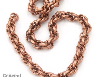 5mm Antique Copper Rope Chain (10 Ft.) #CCD233