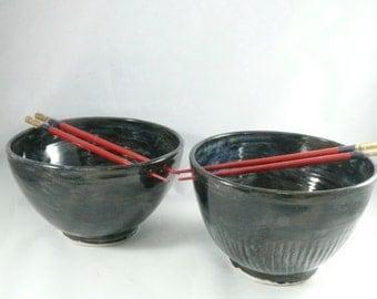 Pho Noodle Bowl with Chopsticks, Large Chopstick Bowl - Holds 42 ounces - Asian Soup Bowl - Japanese Rice Bowl