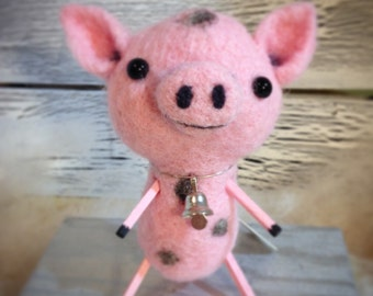 Rosemary the Needle Felted Pig