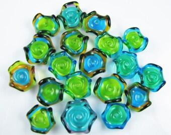 BARGAIN SALE BEADS Assorted Ruffle Discs (19)