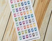 Prescription Pill Bottle RX Stickers for Erin Condren (ID457)