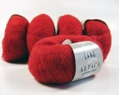 Destash 5 skeins of Lang Yarns Alpaca Superlight  yarn - 125 gr - 995 m (1085 yds) - red color 0060 - made in Italy