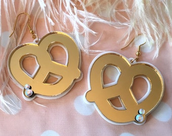 Pretzel Laser Cut Acrylic Earrings