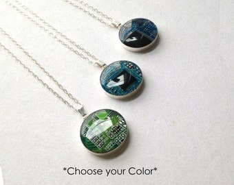 Circuit Board Necklace - Sterling Silver Jewelry - Reclaimed Jewelry - Eco Friendly Gift