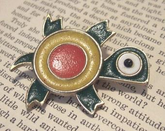 VINTAGE enameled TURTLE Pin BROOCH