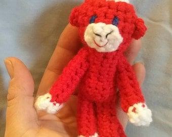 Tiny Sock Monkey - Chinese New Year Monkey - Love Monkey