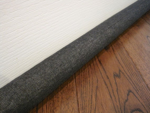 Extra long and extended lengths denim door draft stopper for Door wind stopper