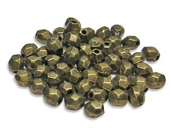 "Bronze Beads - Antique Bronze - Brass Beads - Spacer Beads - Oval Beads - Metal Beads - Pewter Beads - (1805) 8"" Strand"